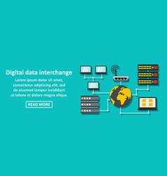 Digital data interchange banner horizontal concept vector
