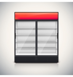 Double fridge with glass door vector