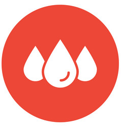 Droplet icon which can easily modified or vector