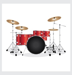 Drum Set Red vector image