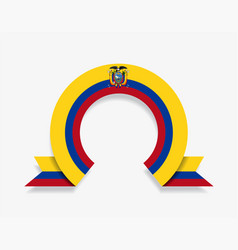 Ecuadorian flag rounded abstract background vector