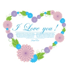 floral abstract heart vector image