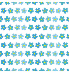 Forget-me-not flowers seamless pattern vector