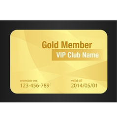 Gold VIP Club Card vector