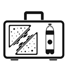 handbag lunch icon simple style vector image