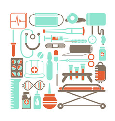 Health and medicine icons vector