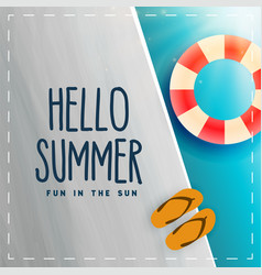 hello summer swimminh pool background vector image