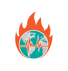 hot world icon design template isolated vector image