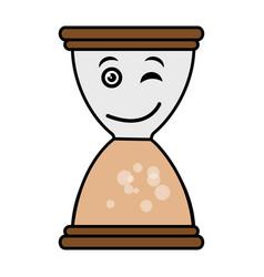 hourglass time kawaii character vector image