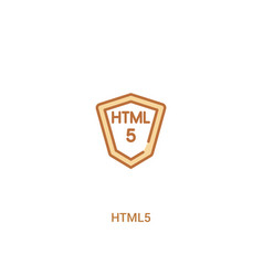 html5 concept 2 colored icon simple line element vector image