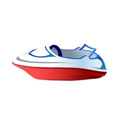 Icon boat vector