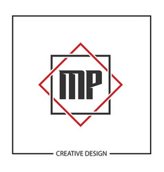 Initial letter mp logo template design vector