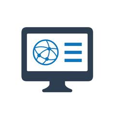 Internet browser icon vector