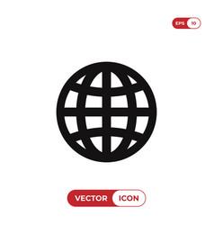 internet icon web globe symbol vector image