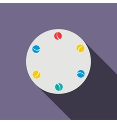 Juggling balls icon flat style vector