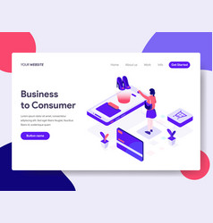 landing page template business to consumer vector image