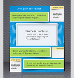 layout business brochure template or a magazine vector image