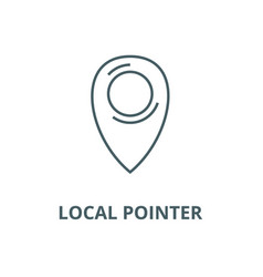 local pointer line icon linear concept vector image