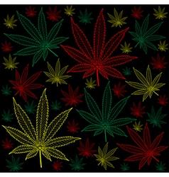 Marijuana-cannabis-background vector