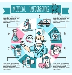 Medical Infographics Sketch vector image