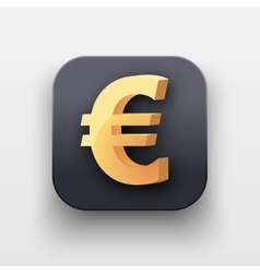 Money icon Symbol of Gold Euro vector image vector image