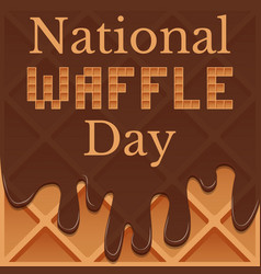 national waffle day 24 august waffles in vector image