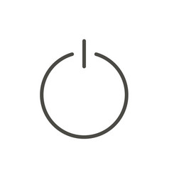 off icon line turn power symbol vector image