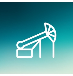 Pump Jack Oil Crane thin line icon vector image