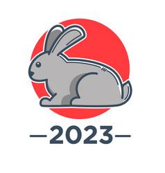 Rabbit zodiac sign chinese horoscope and new year vector