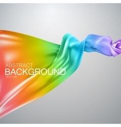 Rainbow silk fabric vector