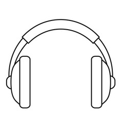 rap headset icon outline style vector image