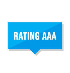 Rating aaa price tag vector