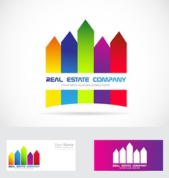 Real estate logo colored vector image