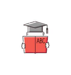 school education icon - person wearing a vector image
