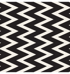 Seamless Black and White ZigZag Lines vector image