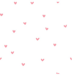 seamless patterns with pink hearts vector image