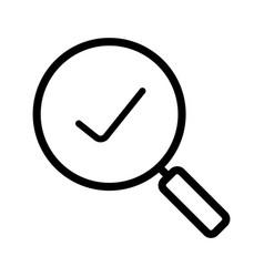 Search linear icon vector