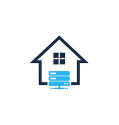 Server house logo icon design vector