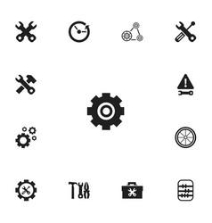 Set of 13 editable repair icons includes symbols vector