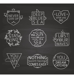 Set of Quotes Typographical Posters line Design vector image
