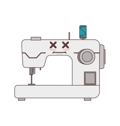 Sewing machine comic character isolated icon vector