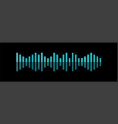 sound wave voice recognition concept flat of vector image