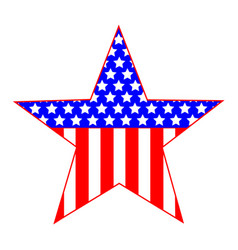star united states symbol vector image