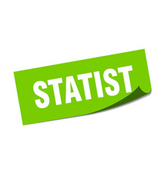 Statist sticker statist square sign statist peeler vector