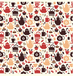 tea seamless pattern of vector image