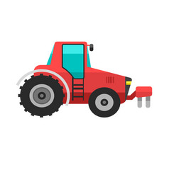 type agricultural vehicle red tractor or vector image
