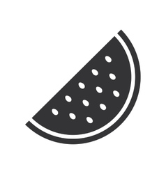 Watermelon fresh fruit isolated icon vector