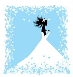 wedding bride vector image