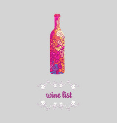 Wine list banner vector