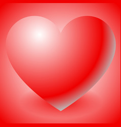 With heart shape love affection valentines day vector